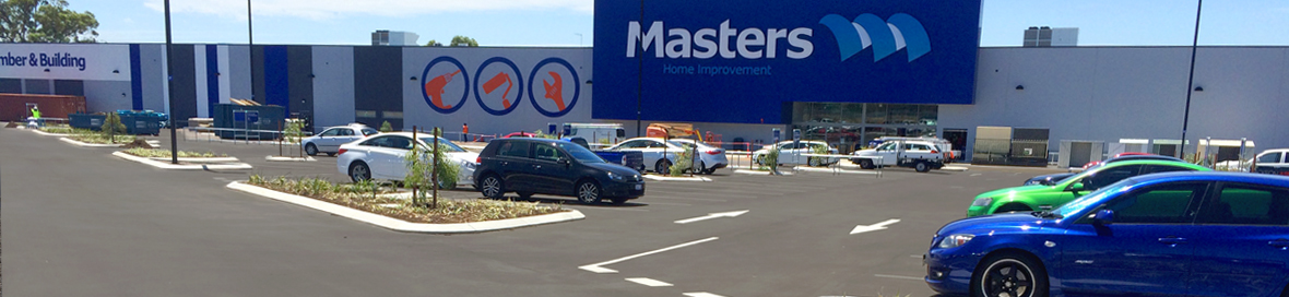 car park asphalt laying at masters in perth