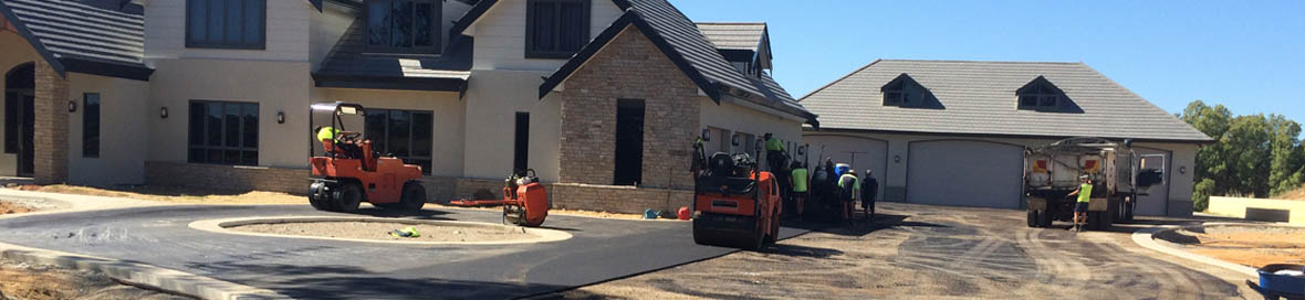 asphalt driveways installation for new home in perth